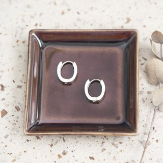 Minimalist ring earrings silver 925