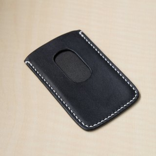 Ultra-thin leather business card holder Italian tannage