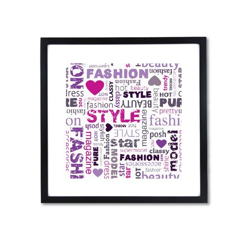 HomePlus Decorative Frame - Fashion Series Purple 43x43cm Homedecor