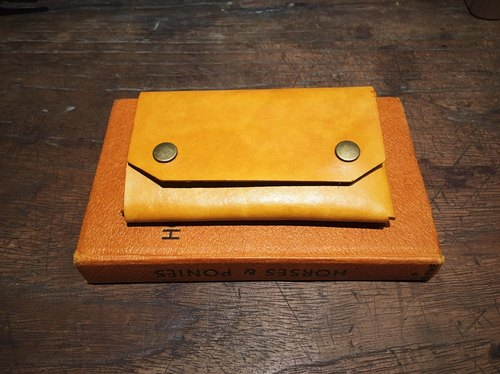 [Cottage a field people] leather brown wallet | carry bag | clip folder | wallet