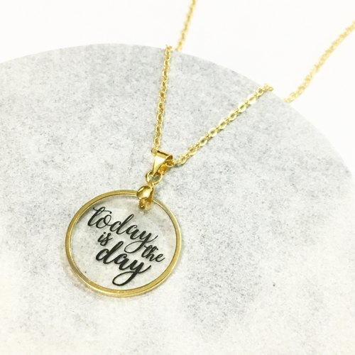 On My Mind Necklace - Today is the day