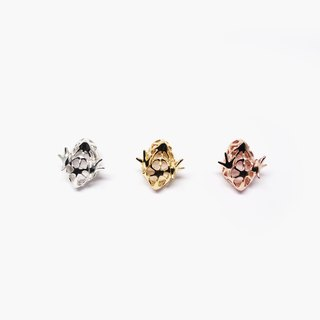 Little chick K18 yellow gold plated SV925 lapel pin【Pio by Parakee】黄金豆的小雞胸針