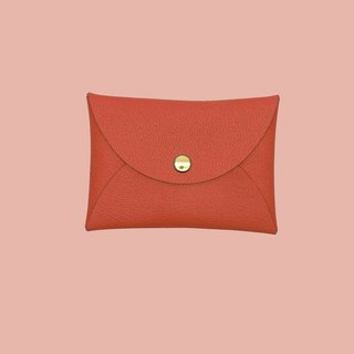Custom leather suede macaron orange card holder / wallet / card holder / card case