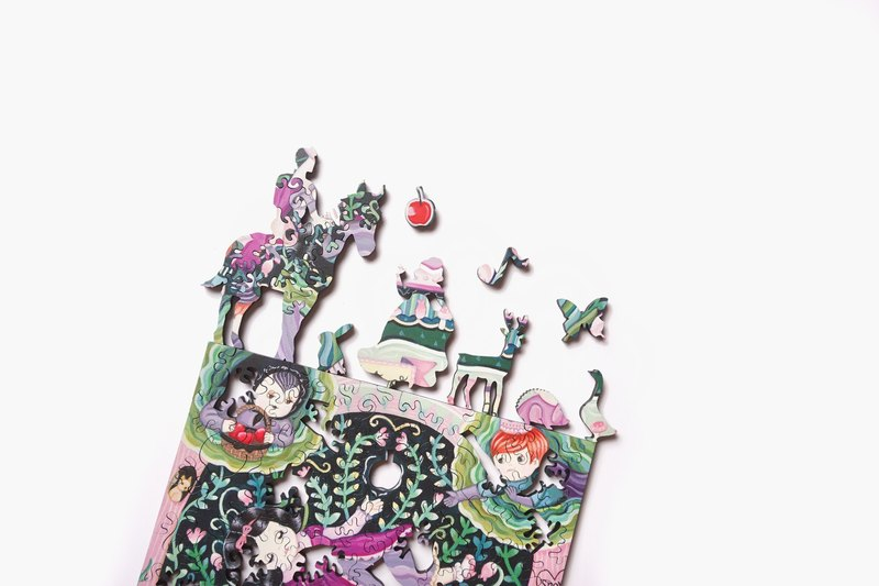 120P Wooden Puzzle_ Snow White