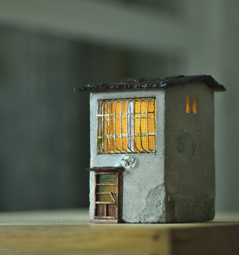 Cement old house creation