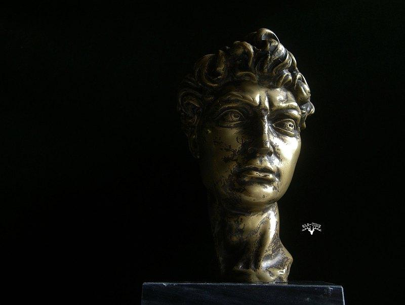 【老時光 OLD-TIME】早期歐洲銅製大衛雕像擺飾