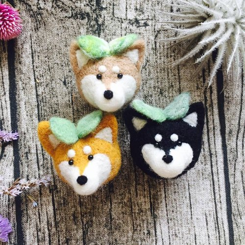 [Rain] Corporation's small fresh, molding treatment was smaller | wool felt temperature - Shiba tress / brooch