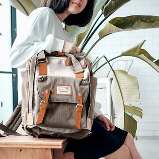 Doughnut Waterproof Macaron Backpack - Ivory Grey