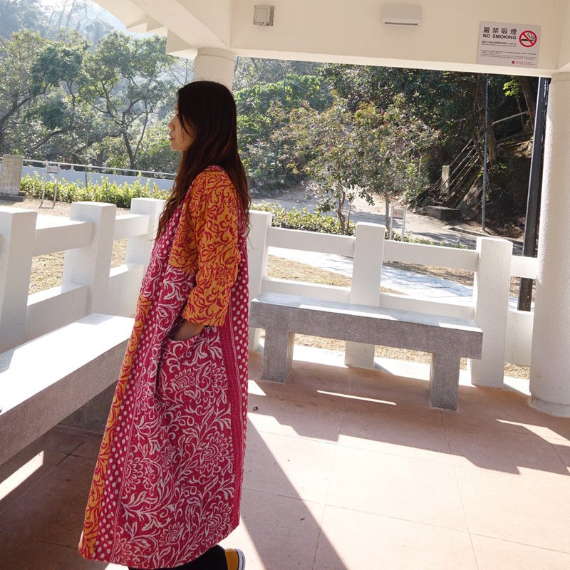 Woman kantha coat