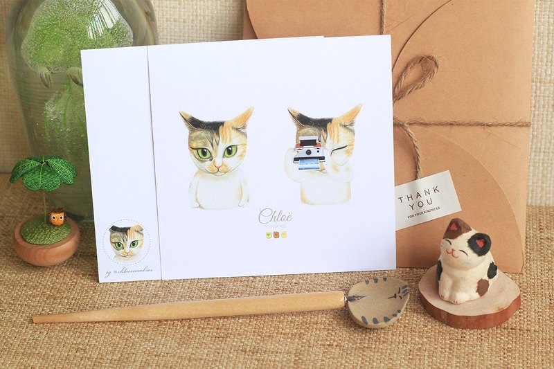 Cameracat - Cat Thank you Card