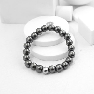 Recovery 8MM Beaded Bracelet (Black Gallstone)
