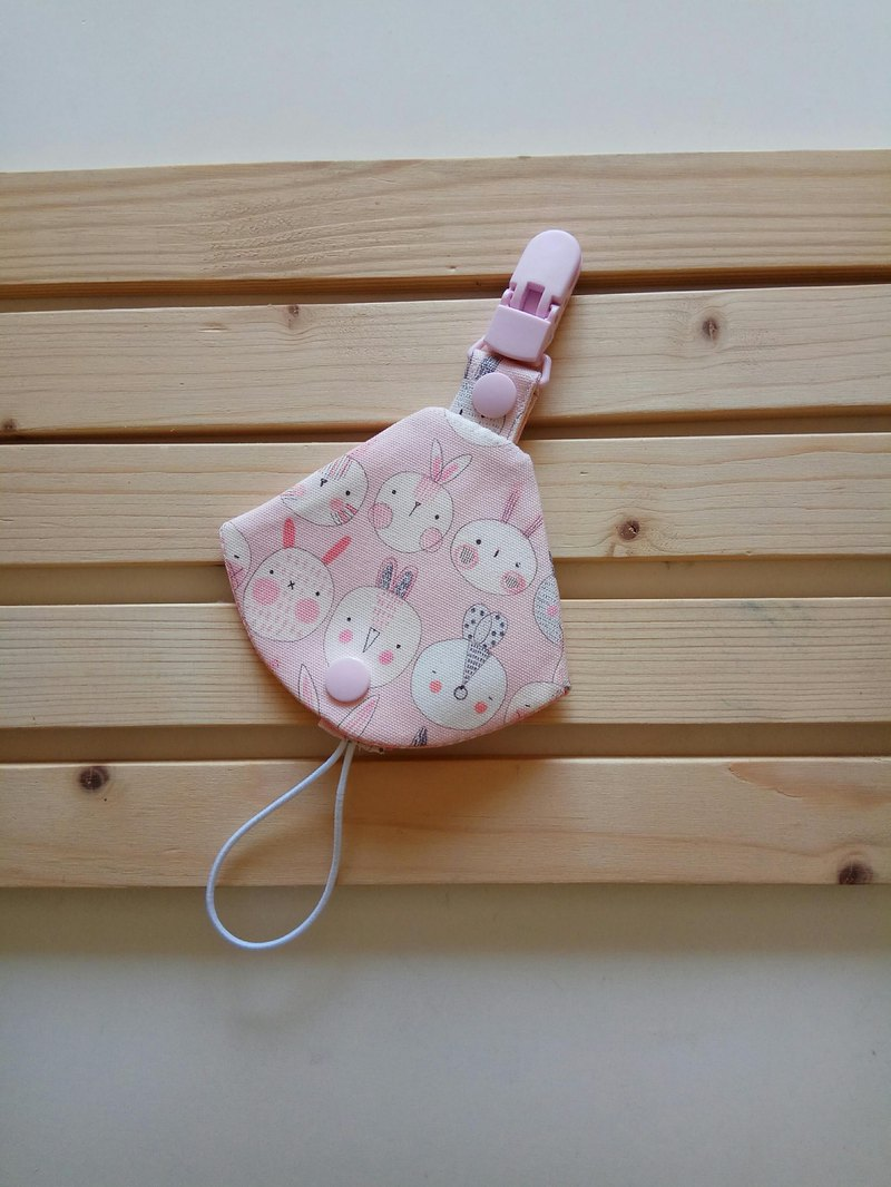 Powder rabbit row station two in one pacifier clip < nipple dust bag + nipple clip> dual function 1 into