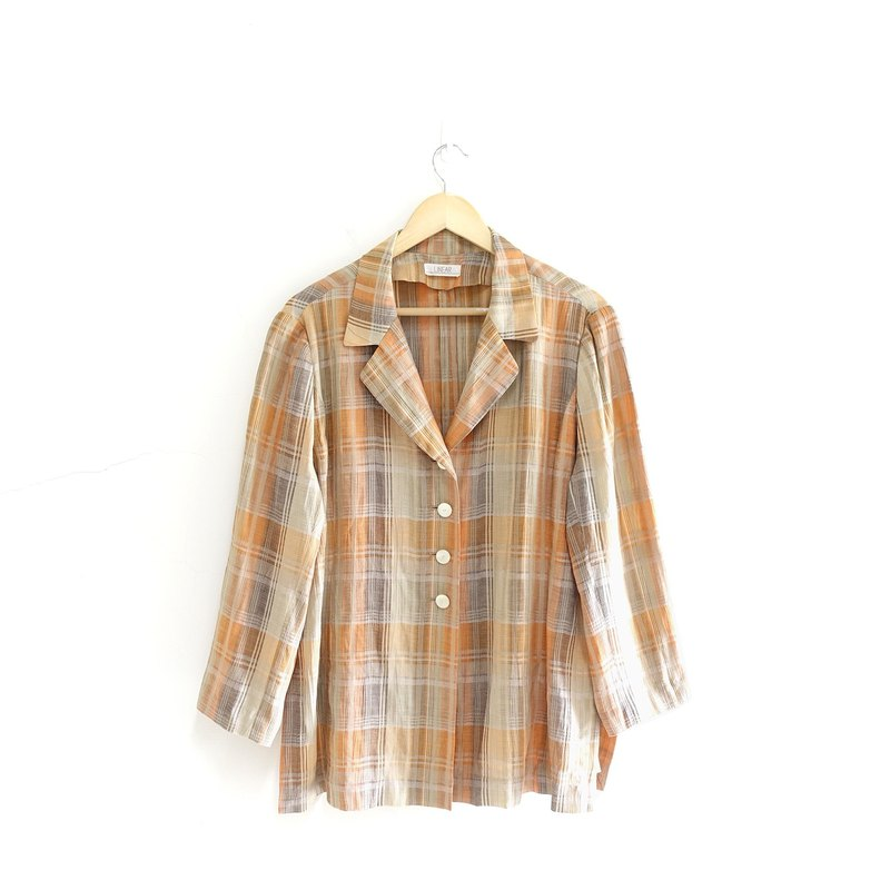 │Slowly│Japanese plaid - vintage thin coat │vintage. Retro. Literature. Made in Japan